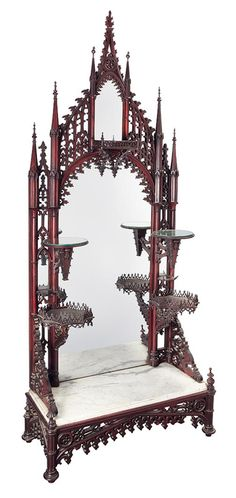 Medieval revival étagère (c.1850) maybe a bit gothic, but who care? This is beautiful.