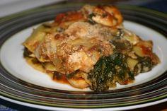kyllinge lasagne med spinat - lyder lækkert