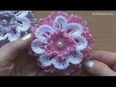 CROCHET Flower VERY EASY Tutorial - YouTube