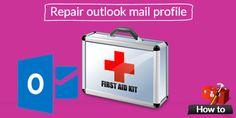 Repair Outlook mail profile - http://o365info.com/repair-outlook-mail-profile_13/
