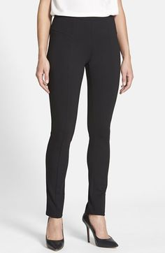 Free shipping and returns on NIC+ZOE 'The Perfect Ponte' Pants (Regular & Petite) at Nordstrom.com. Raised vertical seams accentuate the long-leg look of ultraslim, pull-on pants tailored for a smooth and sleek fit in a stretchy ponte knit offering unfettered comfort.