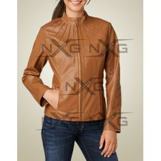 Exclusive Sara leather Bombers jacket for women. Stylish dashing leather bomber jacket for women.Sara leather Bomber has a stand collar and zipper front closure