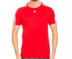 Adidas Men's 3-Stripes Tee - Red