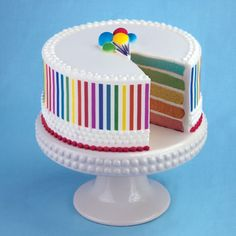 Rainbow Cake from Lucks Food Decorating Company - Cake Decorations and Cake Decorating Ideas