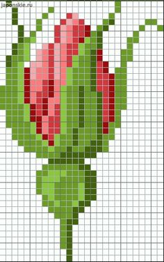 pattern / chart for cross stitch, knitting, knotting, beadi Cross Stitch Heart, Cross Stitch Borders, Modern Cross Stitch, Cross Stitch Flowers, Cross Stitch Designs, Cross Stitching, Cross Stitch Embroidery, Hand Embroidery, Cross Stitch Patterns
