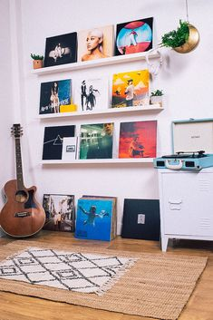 Classic and contemporary collectible vinyl. Hip-hop, pop and rock records to love for a lifetime. Perfect gifts for music lovers. Room Design Bedroom, Room Ideas Bedroom, Bedroom Decor, Rock Bedroom, Retro Room, Vintage Room, Bedroom Vintage, Music Bedroom, Music Inspired Bedroom