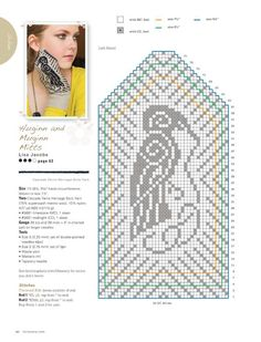 from Knitscene Accessories - 2014 Knitted Mittens Pattern, Knit Mittens, Mitten Gloves, Knitted Hats, Knitting Charts, Loom Knitting, Knitting Patterns, Filet Crochet, Knit Crochet