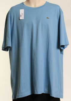 LACOSTE CLASSIC FIT SHORT SLEEVE SOLID CLOUDLESS BLUE SZ 3XL