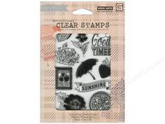 Scrapbooking & Paper Crafts: BasicGrey Clear Stamps 11 pc Sunshine $14