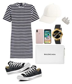"""""""Casual"""" by pitaa29 on Polyvore featuring Converse, T By Alexander Wang, Balenciaga, Vianel, Gucci and Garrard"""
