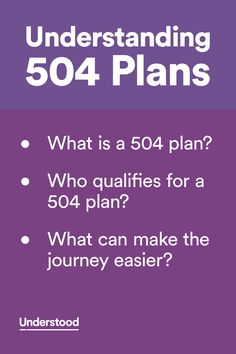 A 504 plan outlines how a child's specific needs are met with accommodations, modifications and other services. Click to learn all about them.