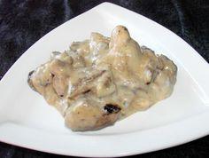 Cremoso Fígado e molho de Cogumelos. Foto POR Boomette