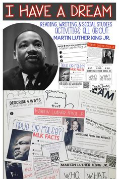 Engage your students with these fun MLK Jr. Activities!