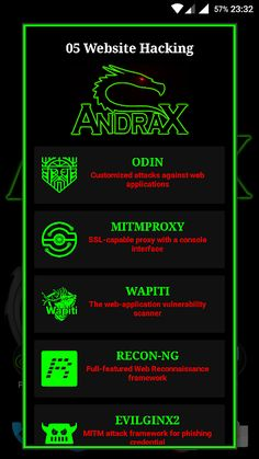 ANDRAX - The First And Unique Penetration Testing Platform For Android Smartphones - KitPloit - PenTest & Hacking Tools for your CyberSecurity Kit ☣ Hacking Tools For Android, Best Hacking Tools, Hacking Books, Learn Hacking, Hacking Websites, Android Phone Hacks, Cell Phone Hacks, Smartphone Hacks, Android Art