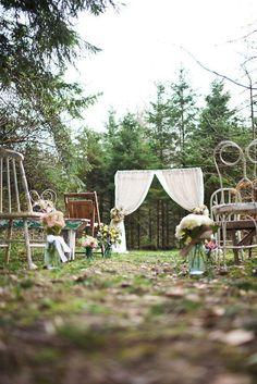 oh!myWedding: Mix de sillas en la ceremonia
