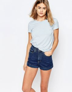 Image 1 of Jack Wills Stripe Top With Pleat Back Detail