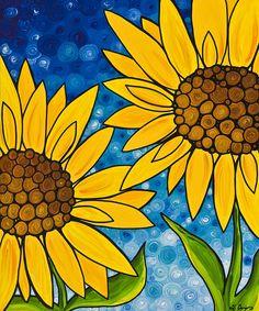 Yellow Sunflowers Painting  - Yellow Sunflowers Fine Art Print