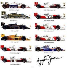 Ayrton Senna's Formula 1 cars //