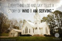 When you are frustrated, angry, or feeling out of control, keep in mind everything you do and say tells a story of who you are serving. www....