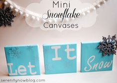 Mini Snowflake Canvases (Silhouette Project) from Serenity Now