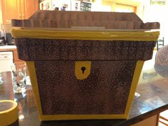 Treasure chest out of styrofoam cooler. Light weight!
