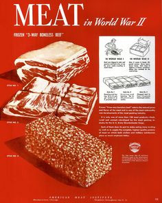 """Meat in World War II""  US American Meat Institute 1945"