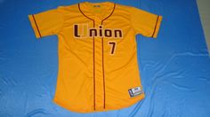 Check out this jersey designed by Union Baseball and created at Midtown Sports in Visalia, CA! http://www.garbathletics.com/blog/union-baseball-custom-jersey/ Create your own custom uniform at www.garbathletics.com!