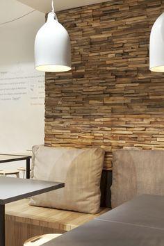 Decorative wooden wall panel - MERCURY - WONDERWALL STUDIOS