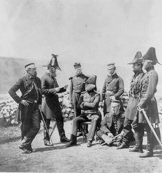 Guerra da Crimeia, Gen Brown e seus soldados. Fotografia de Roger Fenton