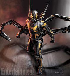Concept art for Ant-Man nemesis Yellowjacket
