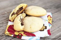 Nutella-filled sugar cookies--DO NOT use two table spoons of dough for each cookie; they end up way too big. But otherwise they're great!