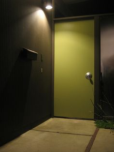 Great color for the side door into the garage from the entryway!