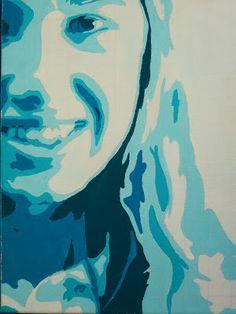 7th The Calvert Canvas: Adventures in Middle School Art!: Monochromatic Portrait Paintings