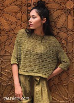 Knitting Designs, Knitting Patterns Free, Knit Patterns, Free Knitting, Summer Knitting, Fair Isle Knitting, Knitwear Fashion, Knit Fashion, Linen Stitch