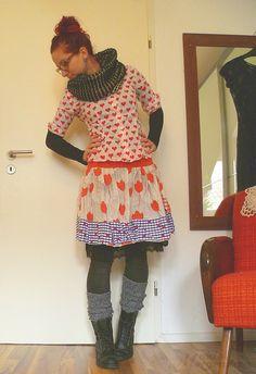 blouse/skirt-mein Morgenstern: me.made.mittwoch // von tulpen und herzen...
