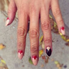 if I liked the pointy nail look on my own nails, I'd totally do this