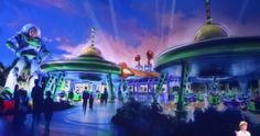 Green Alien Saucers, Toy Story Land, Disney Hollywood Studios (art released 2015)