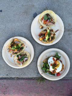 Cool summer sidewalks and breakfast tacos. Mmm. Guerrilla Tacos