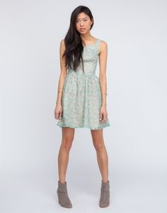 Rosemary  Dress in basil green via Need Supply Co. // got this to wear at a wedding in a barn in WI this summer :)