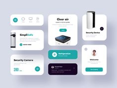 Simplisafe Component designed by ZhaoWei for UIGREAT Studio. Connect with them on Dribbble; User Interface Design, Ui Ux Design, Overlays, Card Ui, Ui Components, Presentation Layout, Ui Web, Ui Elements, Apps
