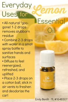 Awesome everyday uses for Lemon essential oil! Plus a GIVEAWAY! Ends this week!