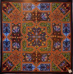 Taken by Bonnie McCaffrey from Luana Rubin's site - Tentmaker work hung in Birmingham. From the Al Farouk shop