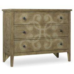 Hooker Furniture Melange Curlacue 3 Drawer Chest