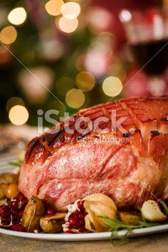 Holiday Ham Dinner Royalty Free Stock Photo
