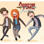 Adventure Time and Doctor Who :D
