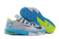 sports shoes 2091e 6d4ba Nike Kevin Durant KD 6 VI Pure Platinum Night Factor-Vivid Blue-Volt For  Sale Online