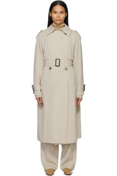 Designer Clothes, Shoes & Bags for Women   SSENSE Pink Punch Recipes, Uk Brands, Double Breasted, Wool Blend, The Row, Duster Coat, Raincoat, Women Wear, Beige
