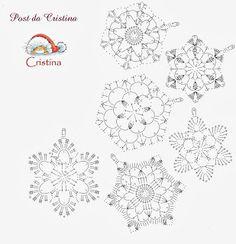 Free Easy Crochet Snowflake Pattern – Snowflakes WorldThousand ideas perNatale: Stelline and candid snowflakes Crochet Wool, Crochet Motifs, Crochet Winter, Thread Crochet, Irish Crochet, Crochet Doilies, Crochet Flowers, Easy Crochet, Crochet Snowflake Pattern