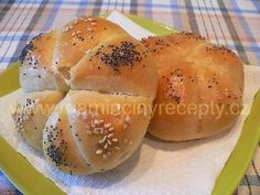 Kaiserky Slovak Recipes, Russian Recipes, Recipe Mix, Bread And Pastries, Bread Rolls, Easy Cooking, Food To Make, Oven, Food And Drink