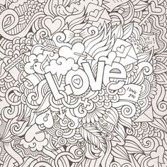 Love Black and White Doodle - KidsPressMagazine.com